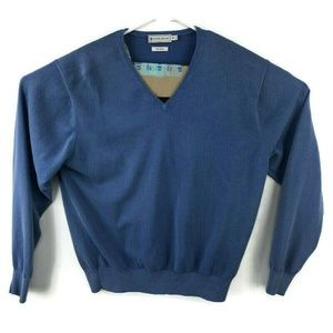 Peter Millar V Neck Sweater 100% Cotton